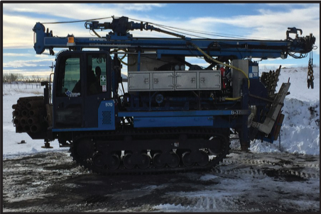 Morooka MST 800 with attached B-37 Mobile Drill, This drill is a multi purpose rig. It is equipped with a 3L6 Progressive Cavity Moyno Pump and 0.85m3 Heated water tank. It has 3 winches, 10' Top Drive Stroke and a 5 speed gear selection with High/Low - Angle Package available GVW - 10,277 Kg HEIGHT MAST DOWN - 3.15m WIDTH - 2.31m MAST UP HEIGHT - 6.7m MAX SPEED 12Km/Hr GROUND PSI - UNDER 4 PSI