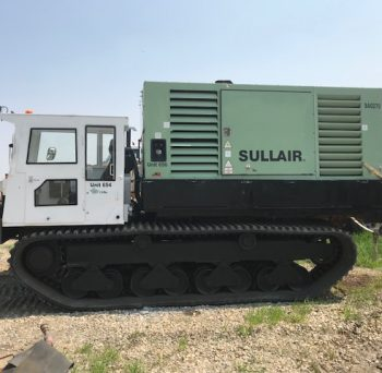 Morooka MST 1500VD with attached SULLAIR 170PSI / 825CFM Air Compressor. Supports odex and air rotary drilling capable of containing all pipe, tooling & supplies.