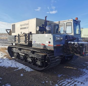 Morooka MST 1500VD with attached Ingersoll Rand Air Compressor. 165PSI / 825CFM.Supports odex and air rotary drilling capable of containing all pipe, tooling