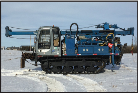 Morooka MST 1500 with attached B-54 Mobile Drill. This drill is a multi-purpose workhorse. It is equipped with a 3L6 Progressive Cavity Moyno Pump and 1m3 Heated water tank. It has 3 winches, 10' top drive stroke and a 5 speed gear selection with High/Low - Angle Package available GVW - 16,341 Kg HEIGHT MAST DOWN - 3.05m WIDTH - 2.62m MAST UP HEIGHT - 10.2m MAX SPEED - 12Km/Hr GROUND PSI - UNDER 6PSI